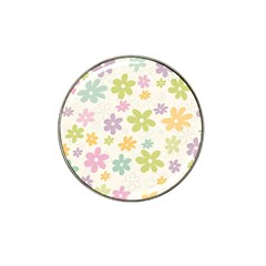 Beautiful spring flowers background Hat Clip Ball Marker