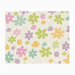 Beautiful spring flowers background Small Glasses Cloth