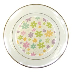 Beautiful spring flowers background Porcelain Plates
