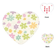 Beautiful spring flowers background Playing Cards (Heart)