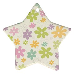 Beautiful spring flowers background Star Ornament (Two Sides)