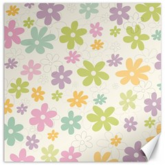 Beautiful spring flowers background Canvas 12  x 12