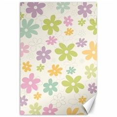 Beautiful spring flowers background Canvas 12  x 18