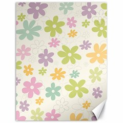 Beautiful spring flowers background Canvas 18  x 24