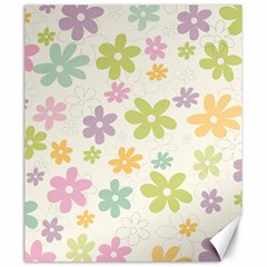 Beautiful spring flowers background Canvas 20  x 24