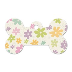 Beautiful spring flowers background Dog Tag Bone (Two Sides)