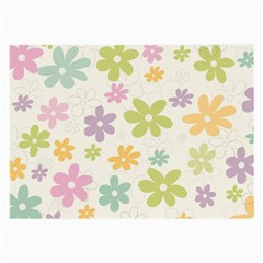 Beautiful spring flowers background Large Glasses Cloth