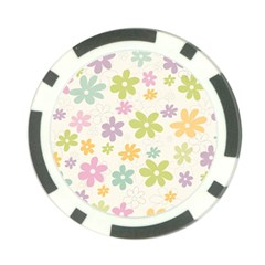 Beautiful spring flowers background Poker Chip Card Guard