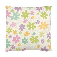 Beautiful spring flowers background Standard Cushion Case (One Side)