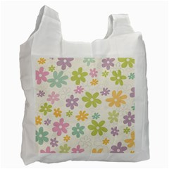 Beautiful spring flowers background Recycle Bag (One Side)