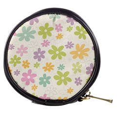 Beautiful spring flowers background Mini Makeup Bags