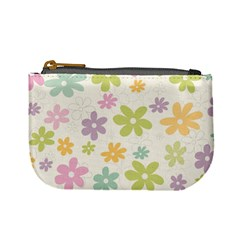 Beautiful spring flowers background Mini Coin Purses