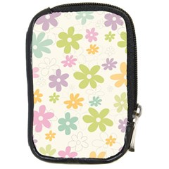 Beautiful spring flowers background Compact Camera Cases