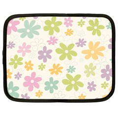 Beautiful spring flowers background Netbook Case (XL)