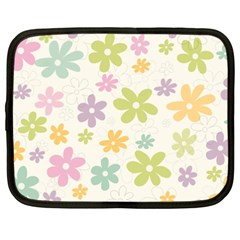Beautiful spring flowers background Netbook Case (XXL)