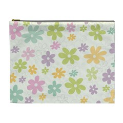 Beautiful spring flowers background Cosmetic Bag (XL)