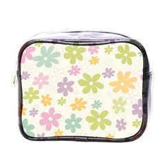 Beautiful spring flowers background Mini Toiletries Bags