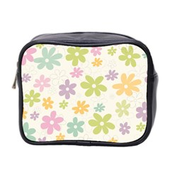 Beautiful spring flowers background Mini Toiletries Bag 2-Side
