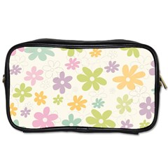 Beautiful spring flowers background Toiletries Bags 2-Side