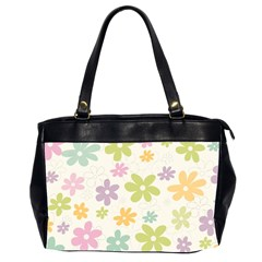 Beautiful spring flowers background Office Handbags (2 Sides)