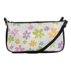 Beautiful spring flowers background Shoulder Clutch Bags