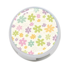 Beautiful spring flowers background 4-Port USB Hub (One Side)