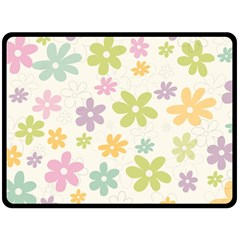 Beautiful spring flowers background Fleece Blanket (Large)