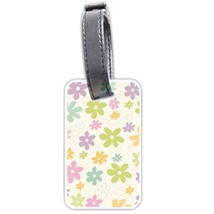 Beautiful spring flowers background Luggage Tags (One Side)