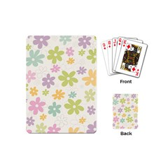 Beautiful spring flowers background Playing Cards (Mini)