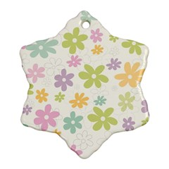 Beautiful spring flowers background Ornament (Snowflake)