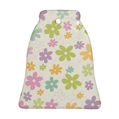 Beautiful spring flowers background Ornament (Bell)