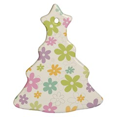 Beautiful spring flowers background Christmas Tree Ornament (Two Sides)