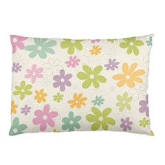 Beautiful spring flowers background Pillow Case (Two Sides)