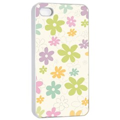 Beautiful spring flowers background Apple iPhone 4/4s Seamless Case (White)