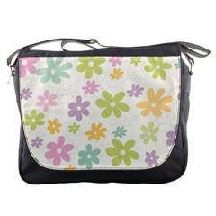 Beautiful spring flowers background Messenger Bags