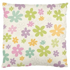 Beautiful spring flowers background Large Cushion Case (Two Sides)