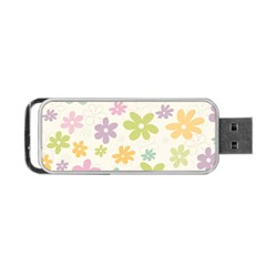 Beautiful spring flowers background Portable USB Flash (Two Sides)