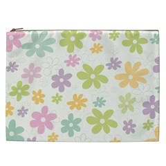 Beautiful spring flowers background Cosmetic Bag (XXL)