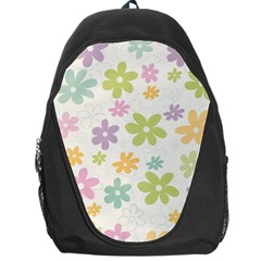 Beautiful spring flowers background Backpack Bag