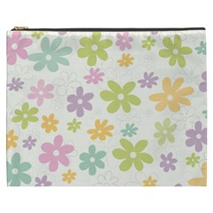 Beautiful spring flowers background Cosmetic Bag (XXXL)