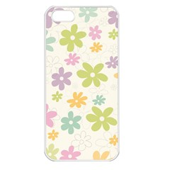 Beautiful spring flowers background Apple iPhone 5 Seamless Case (White)