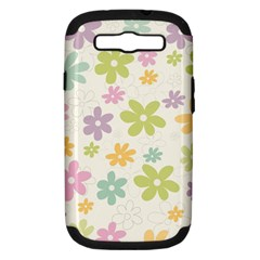 Beautiful spring flowers background Samsung Galaxy S III Hardshell Case (PC+Silicone)