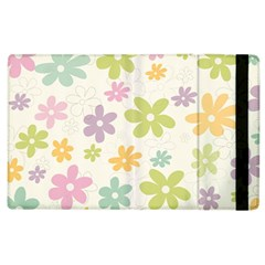 Beautiful spring flowers background Apple iPad 2 Flip Case