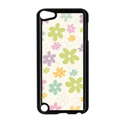 Beautiful spring flowers background Apple iPod Touch 5 Case (Black)