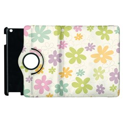Beautiful spring flowers background Apple iPad 3/4 Flip 360 Case