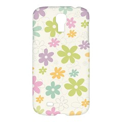 Beautiful spring flowers background Samsung Galaxy S4 I9500/I9505 Hardshell Case