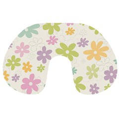 Beautiful spring flowers background Travel Neck Pillows