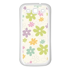 Beautiful spring flowers background Samsung Galaxy S3 Back Case (White)