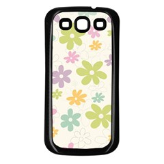 Beautiful spring flowers background Samsung Galaxy S3 Back Case (Black)
