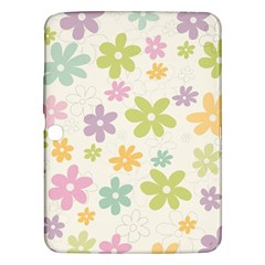 Beautiful spring flowers background Samsung Galaxy Tab 3 (10.1 ) P5200 Hardshell Case